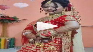 Dulhan Ka Desi Dance: तेरी आंख्या का यो काजल...Sapna Choudhary के कड़क गाने पर दुल्हन का बेधड़क डांस   देखें Viral Video
