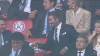 WATCH: David Beckham-Tom Cruise Fist Bump After Luke Shaw's Goal vs Italy in EURO 2020 Final at Wembley, Video Goes Viral