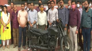 Gujarat College Students Develop Motorbike That Runs on Both Petrol & Electricity