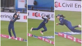 VIDEO: Harleen Deol Takes an Insanely Brilliant Catch During India Women's T20I Opener vs England