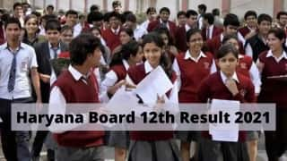 HBSE 12th Result 2021 DECLARED: Haryana Board Announces Class 12 Results, 100% Pass; DIRECT LINK Here