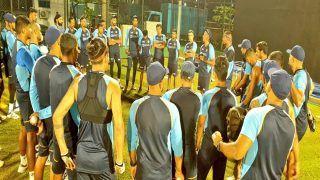 श्रीलंका दौरे पर टीम इंडिया, 'फ्लड लाइट्स' में शुरू की प्रैक्टिस