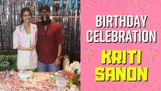 Happy Birthday Kriti Sanon: WATCH How Kriti Sanon Celebrated Her Birthday With Media At Maddock Films Office Khar