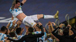 VIDEO: How Lionel Messi And Argentina Celebrated Copa America 2021 Win After Beating Brazil 1-0 in Final