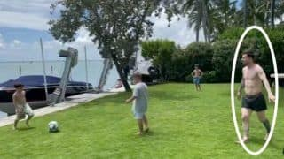 Lionel Messi Plays Football With His Kids, Video Goes Viral