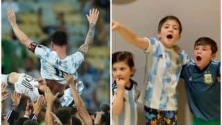 VIDEO: Lionel Messi's Cute Kids Celebrating Argentina's Copa America 2021 Win Can be Watched on Loop All Day