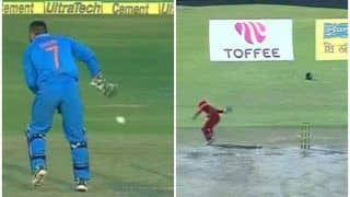VIDEO: MS Dhoni-Style No-Look Runout by Zimbabwe's Regis Chakabva Can be Watched on Loop