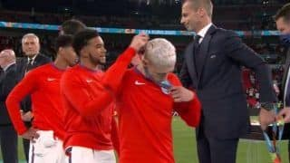 VIDEO: English Players Slammed For Taking Off Their Silver Medal After Loss in EURO 2020 Final at Wembley vs Italy
