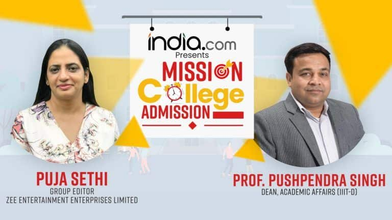 Mission College Admission: Step Towards Making Admissions Trouble-Free   Puja Sethi In Conversation With Prof. Pushpendra Singh, IIIT-D