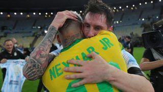 VIDEO: Lionel Messi Consoles Neymar After Brazil Lose Copa America 2021 Final, Give Friendship Goals