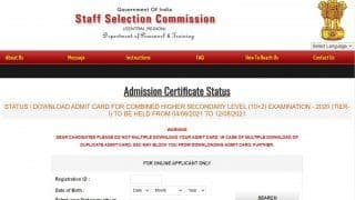 SSC CR CHSL Admit Card 2021 Released at ssc-cr.org; Direct Link to Download Central Region Tier 1 Call Letter Here