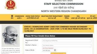SSC NWR CHSL Tier 1 Admit Card 2021 Released at sscnwr.org; Direct Link to Download North Western Region Hall Ticket Here