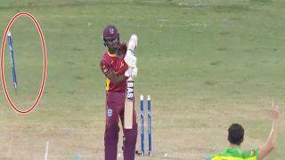 West Indies vs Australia, 1st ODI: Mitchell Starc ने फेंकी ऐसी गेंद, दूर जाकर गिरा स्टंप