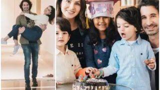 Sunny Leone ने पति और बच्चों के साथ नए घर में ली एंट्री, पति डेनियल ने गोद में लेकर कराया गृह प्रवेश