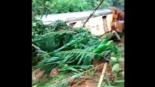 Passenger Train Derailed Between Dudhsagar and Sonaulim in South Goa as Heavy Rains Trigger Landslides | Watch
