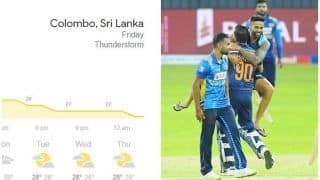 Colombo Weather Forecast For July 23, SL vs Ind 3rd ODI: Rain, Thunderstorm Likely to Play Spoilsport in R. Premadasa Stadium on Friday