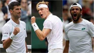 Wimbledon 2021 HIGHLIGHTS AND RESULTS, Semifinal Updates: Djokovic Beats Shapovalov in Straight Sets to Set up Berrettini Showdown in Final