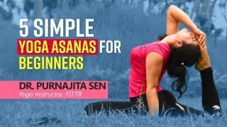 Want to Learn Yoga? Try These 5 Simple Yoga Asanas For Beginners | Demonstrated by Expert Dr. Purnajita Sen