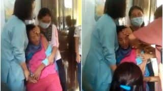Viral Video: Scared of Needles, Woman Shouts & Screams While Taking COVID Vaccine | Watch
