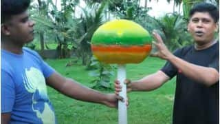 Kerala YouTubers Make The World's Biggest Lollipop Weighing 25 Kg, Showcase Entire Process in a Video   Watch
