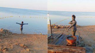 Taarak Mehta Ka Ooltah Chashmah Fame Munmun Dutta Takes Mud Bath In Hot Leopard Print Bikini At Dead Sea