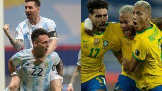 Argentina vs Brazil Match Highlights Copa America 2021 Final: ARG 1-0 BRA; Angel Di Maria's Goal Powers Argentina to South American Glory