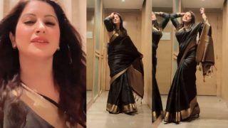 Sonali Phogat ने काली साड़ी पहनकर कातिलाना अदाओं से किया मदहोश, हुस्न और कशिश...VIDEO