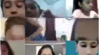 Teacher Makeup Online Class Video: मेकअप कर ऑनलाइन क्लास ले रही थी मैडम, बच्ची बोली- कितना सज-धज के आई हैं