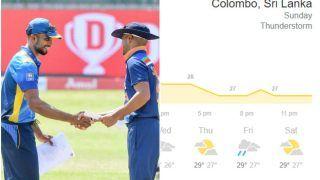 Colombo Weather Forecast For 25th July, Sri Lanka vs India, 1st T20I: Rain Likely to Play Spoilsport