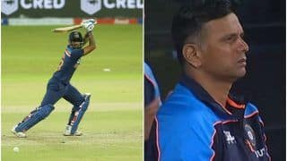 VIDEO: Rahul Dravid's Disappointing Reaction After SKY's Dismissal | Watch
