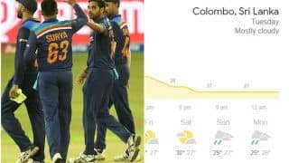 Colombo Weather For Sri Lanka vs India, 2nd T20I: Will Rain Play Spoilsport?