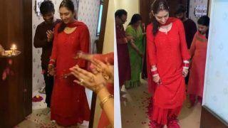 Disha Parmar ने पति Rahul Vaidya के साथ किया गृह प्रवेश, सासू मां ने आरती उतार कर किया स्वागत- Video