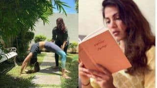 Rhea Chakraborty Shows Her Way of Healing, Performs Chakrasana With Best Friend- See Photo