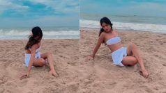 Nia Sharma ने समंदर किनारे बिकिनी में बरपाया हुस्न से कहर, खुली ज़ुल्फ़ों में लिपट गईं रेत में...VIDEO VIRAL