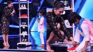 Karisma Kapoor Gifts 5 Pair of Shoes to Super Dancer Chapter 4 Contestant Pruthviraj