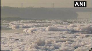 Delhi News: दिल्ली में यमुना नदी में तैर रहीं जहरीले झाग की परतें, देखें वीडियो