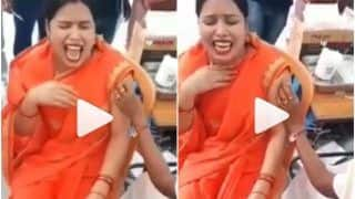 Viral Video: Woman Cries & Screams Like a Child After Getting Covid Vaccine, Netizens Call it 'Overacting' | Watch