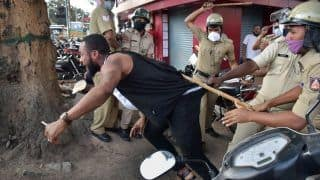 Bengaluru Police Lathi-charge Crowd Protesting Alleged Custodial Death of African National