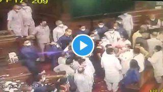 Video: संसद में कल विपक्षी सांसदों और मार्शलों के बीच क्या हुआ, ये CCTV फुटेज देखें