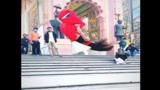 Backflips in Saree: लड़की ने लाल साड़ी में किए जबरदस्त बैकफ्लिप्स, देखें Viral Video