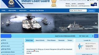 Indian Coast Guard Group B Recruitment 2021: Application Process Going on For Posts of Chargeman; Salary Upto Rs 1 Lakh