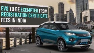 Electric Vehicles to be Exempted from Registration Certificate Fees in India | Latest News