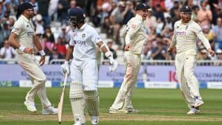 ENG vs IND 2021: James Anderson Shines For Hosts as India's Batting Stutter on Rain-Hit Day