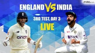 IND vs ENG MATCH HIGHLIGHTS 3rd Test, Day 3 Cricket Updates: Pujara Nears Hundred, Kohli Solid; India Trail England by 139 Runs at STUMPS