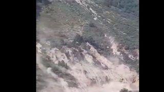 Video: Massive Landslide Blocks Chandrabhaga River In Lahaul-Spiti, Poses Threat To Villagers