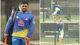 WATCH   Dhoni Unleashes BEAST Mode During CSK's First Training Session in Dubai