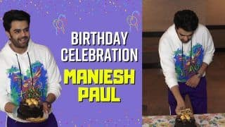 Happy Birthday Maniesh Paul : See How He Celebrated His Birthday With Media, Cake Cutting And More