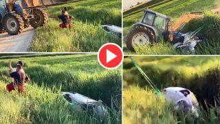 Funny Video: कार को गड्ढे से बाहर खींचने आई थी क्रेन, खुद को ही पड़ गई मदद की जरुरत | Viral हो रहा मजेदार वीडियो