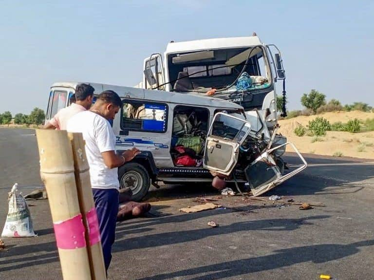 11 Pilgrims Dead, Six Injured in Rajasthan Road Accident; PM Modi Announces Rs 2 Lakh Ex-gratia