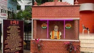 Maharshtra: PM Modi की लगाई प्रतिमा हटाई गई, NCP का प्रदर्शन